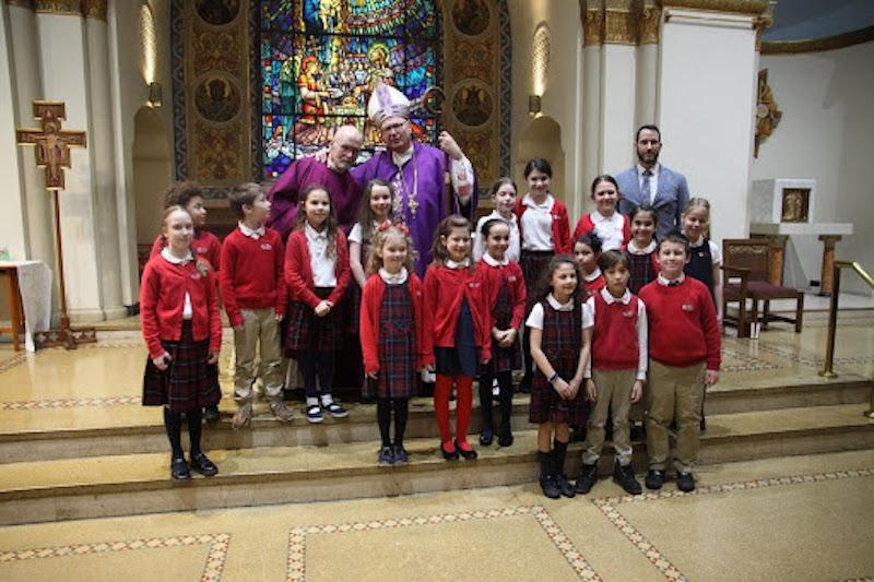 Cardinal visits SSHS on 3.11