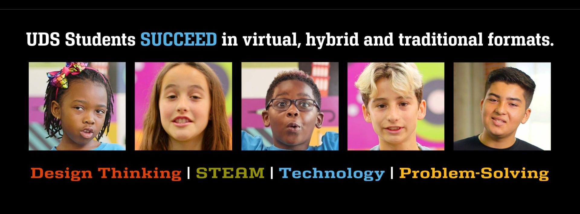 Urban Discovery Students SUCCEED in Virtual, Hybrid and Traditional Formats.