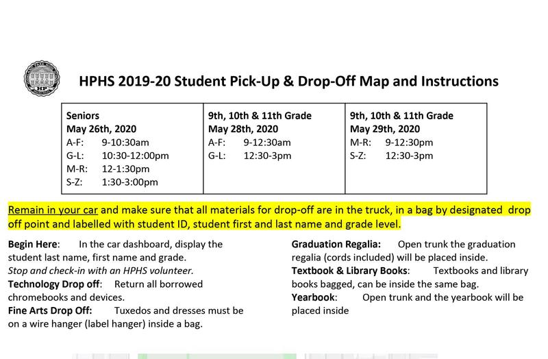 Student Pick Up & Drop Off Instructions - May 26, 28, 29 Featured Photo