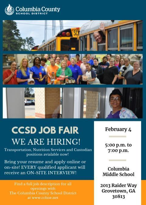 Job Fair Informational Flyer