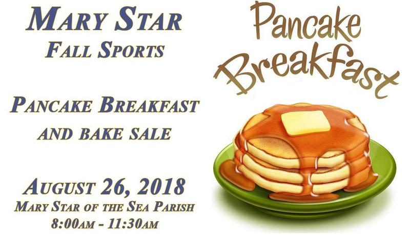 MSHS Fall Sports Mass, Pancake Breakfast and Bake Sale August 26th Featured Photo