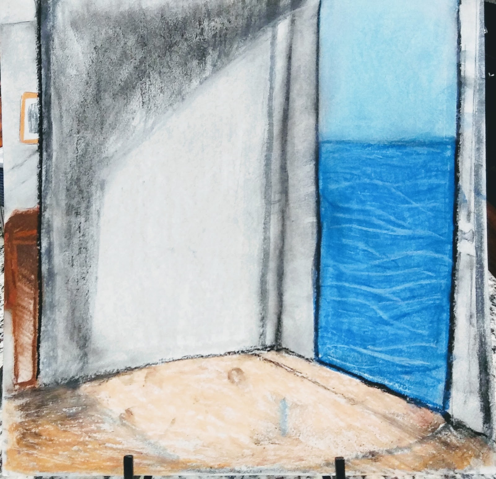 Landmark Student Drawing of an open door