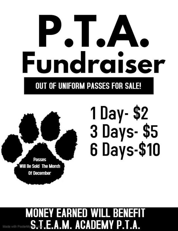 P.T.A. Fundraiser-Out of Uniform Pass Sale Featured Photo