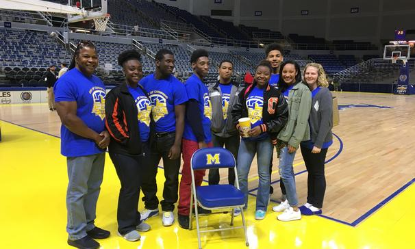 Some Opelousas High School students, were lucky to attend the FCA Day of Champions in Lake Charles hosted by the MCNeese State University at the Burton Coliseum.