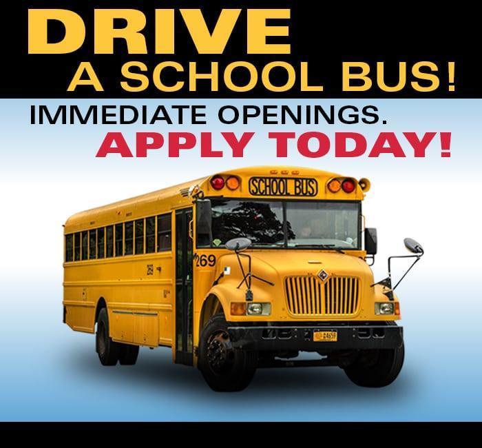 PART TIME SCHOOL BUS DRIVERS NOW HIRING!! Thumbnail Image