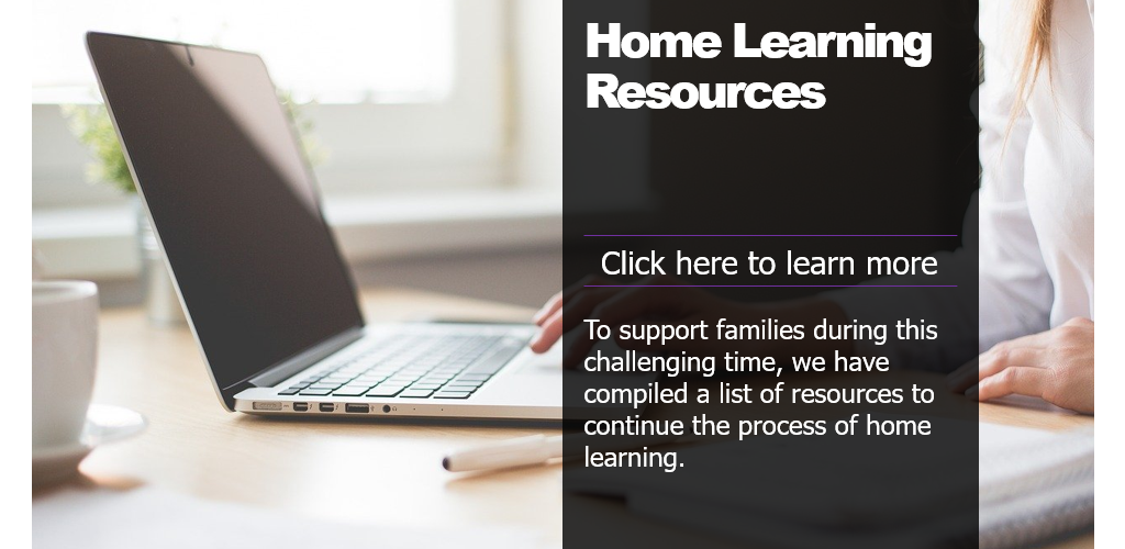 Home Learning Links graphic