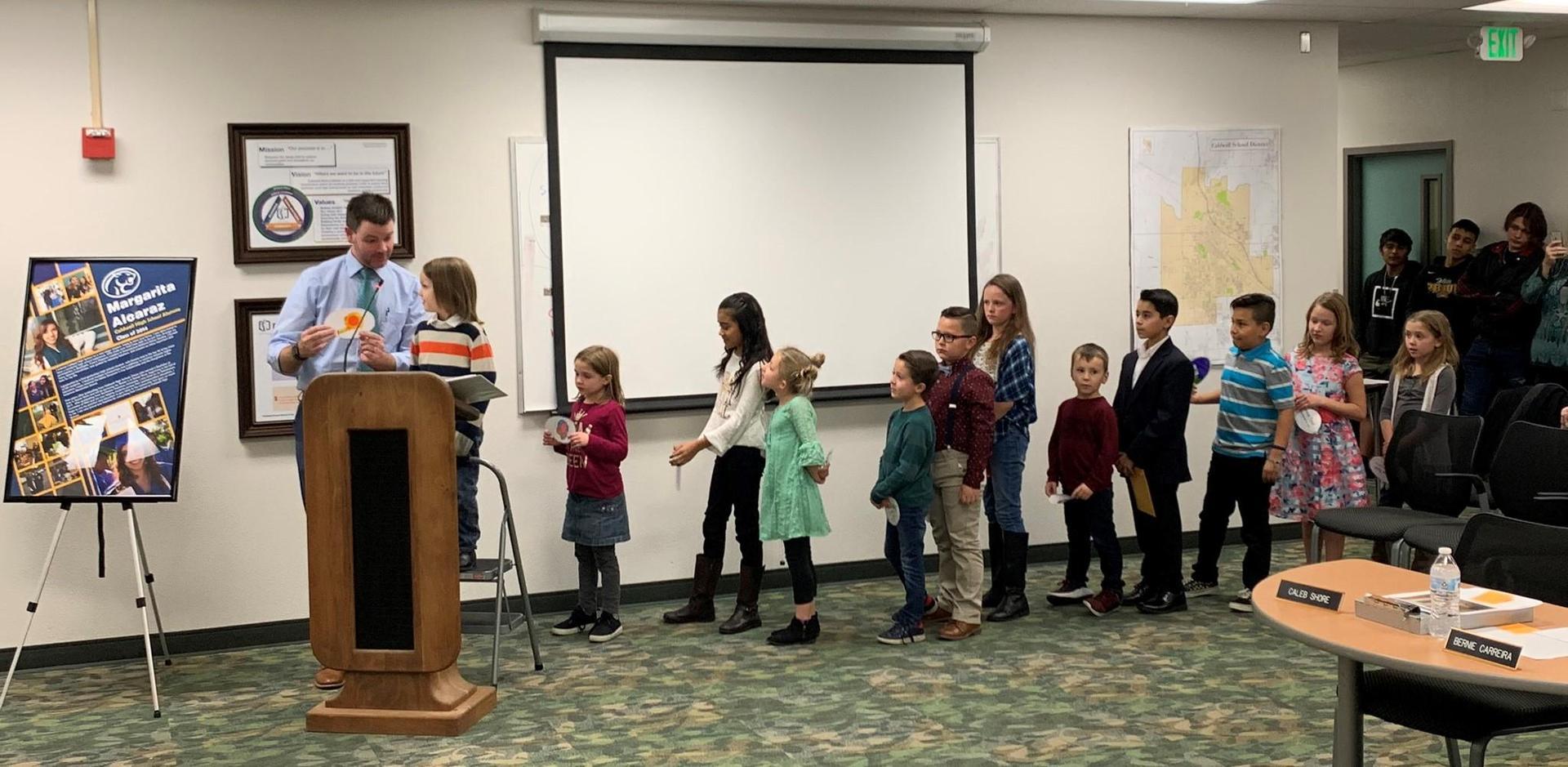 Lewis & Clark students presenting