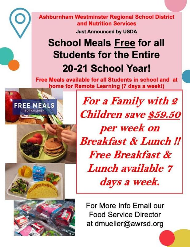 School Meal Flyer