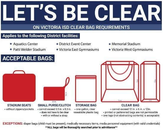 NEW -- VISD Clear Bag Procedures Thumbnail Image