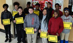 Junior High Students of the month February