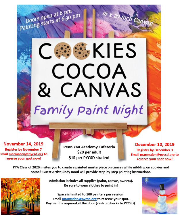 Cookies, Cocoa, & Canvas - Family Paint Night Featured Photo
