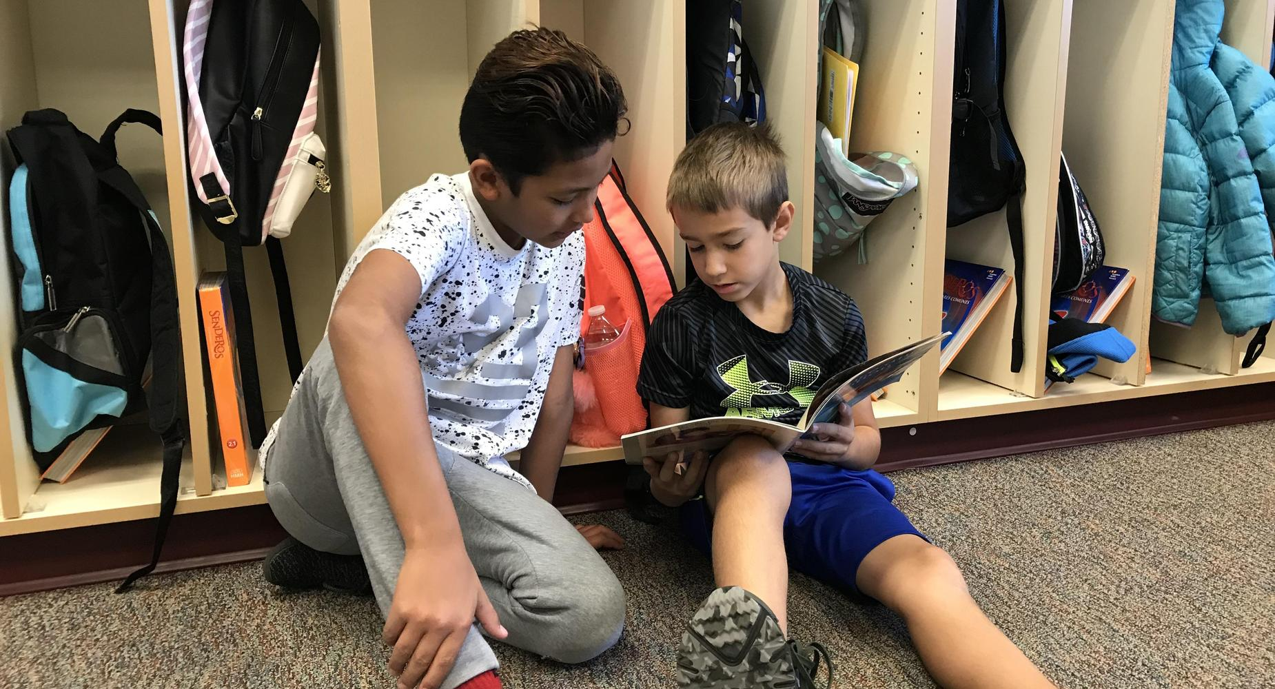 Buddy reading for kindness week.