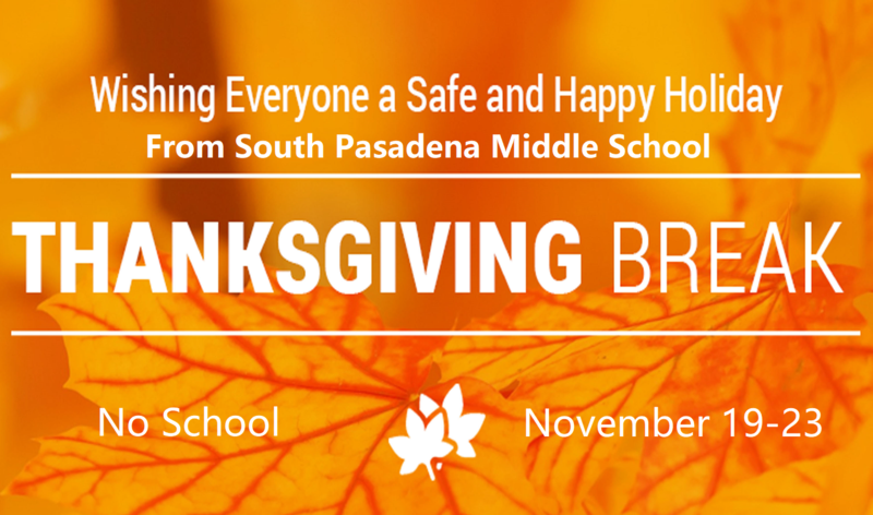 No School the week of Nov. 19 - 23; Thanksgiving Holiday Featured Photo