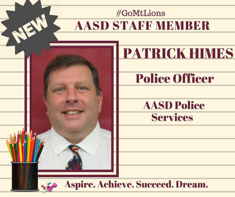 AASD Welcomes Officer Pat Himes Thumbnail Image