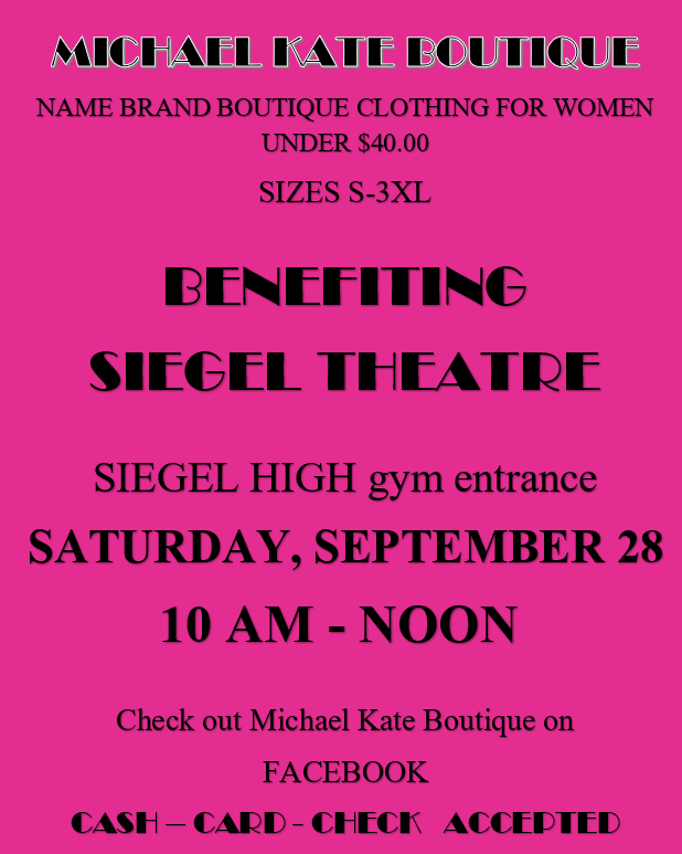 Michael Kate Boutique flyer