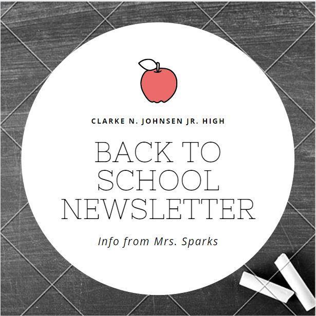 Welcome back to school newsletter icon