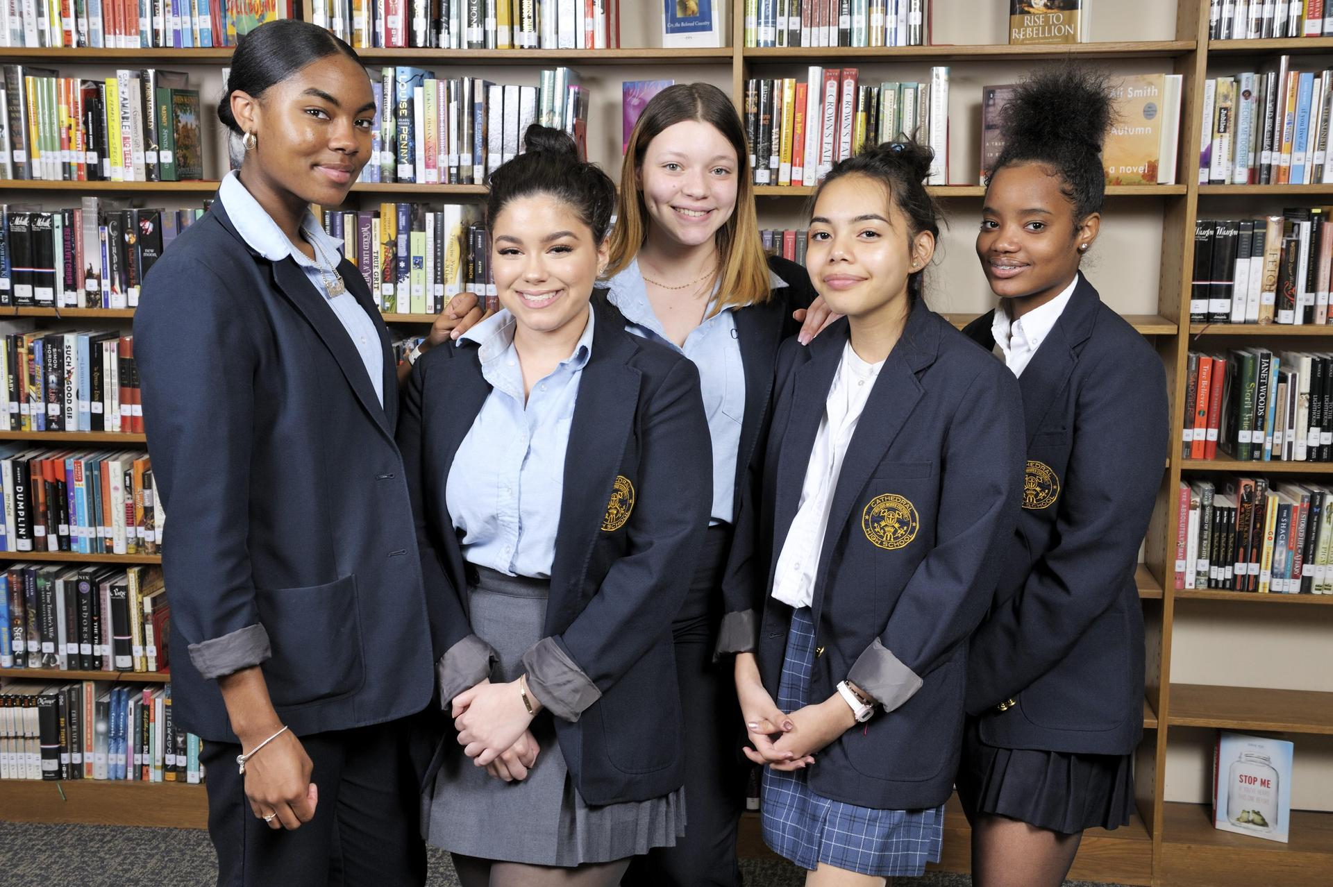 Students at Cathedral High School