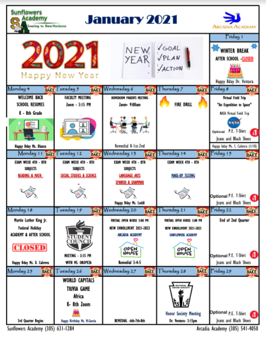January 2021 Calendar Featured Photo