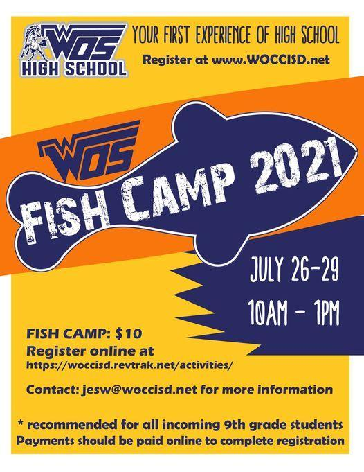 Fish Camp flyer (9th grade only)