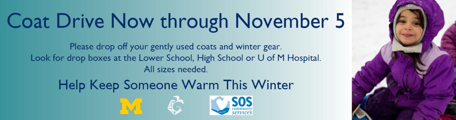 Coat Drive Now Through November 5