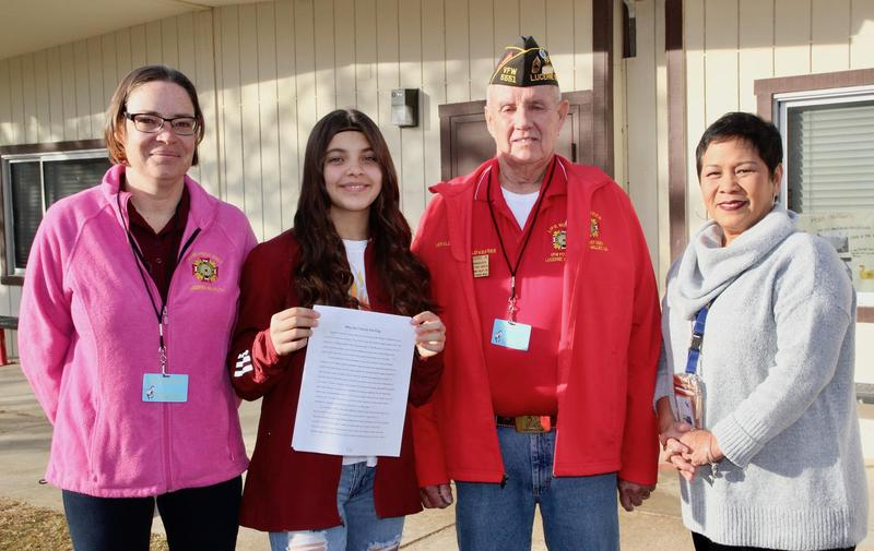 LV Middle Schooler Wins VFW Essay Award Featured Photo