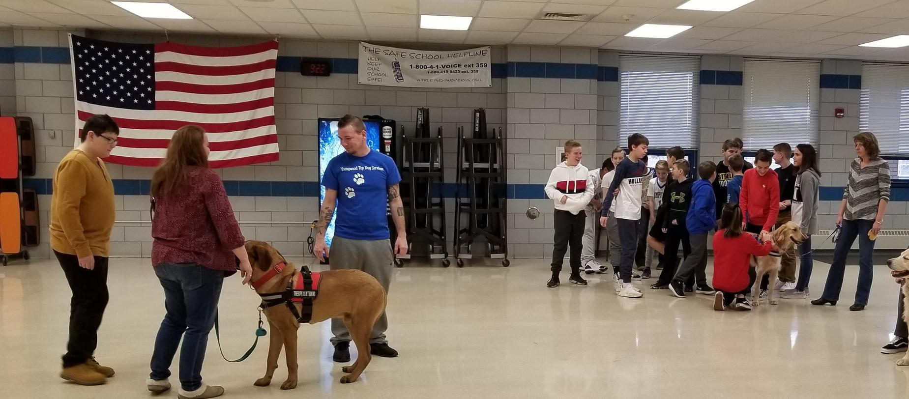 Therapy Dogs Visit Harrold
