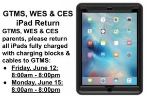 GTMS Site iPad Return