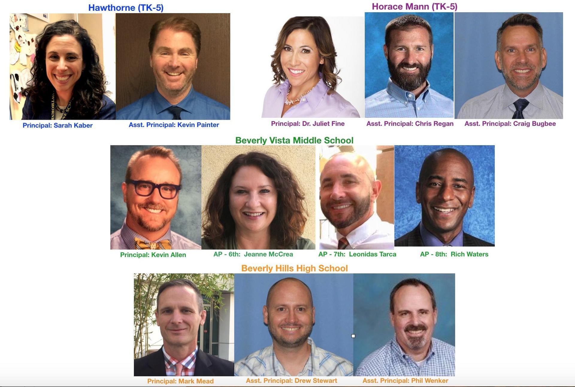 New Admin Leadership Team 2019-20