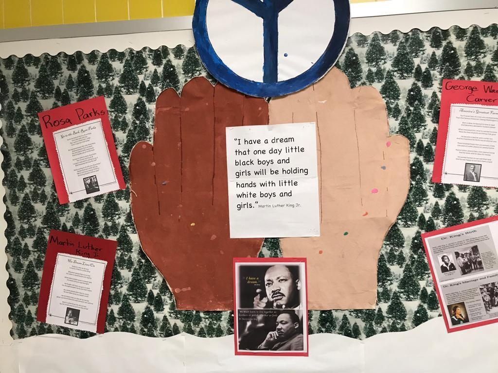black history month biography activity display