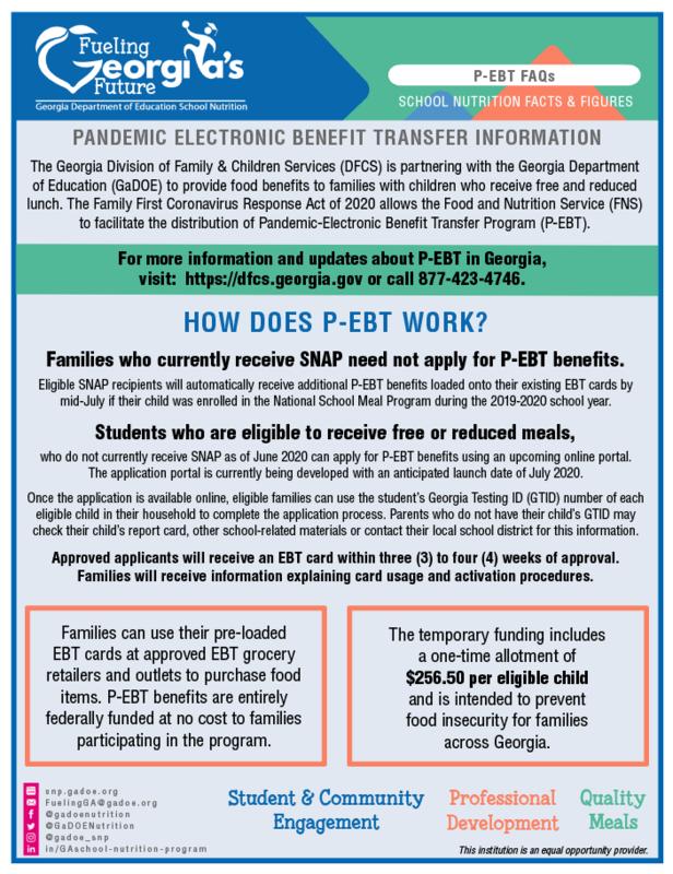 P-EBT Information Featured Photo