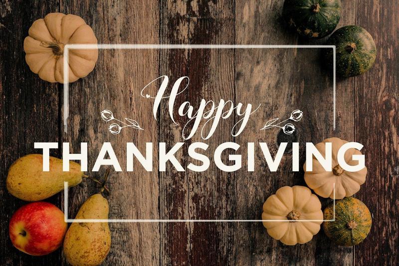 Student/Staff Holidays Next Week-Nov. 25-29 Thumbnail Image