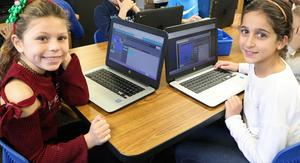 Students at Tamaques School enjoys coding activities during Computer Science Education Week.