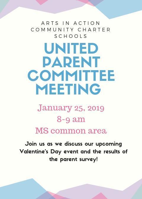 United Parent Committee Meeting/Junta del Comite de Padres Thumbnail Image