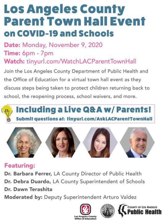 Los Angeles County Parent Town Hall Event
