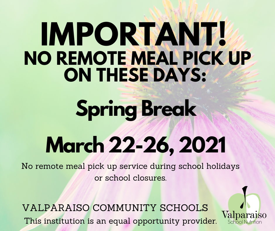 No Remote Meals Spring Break