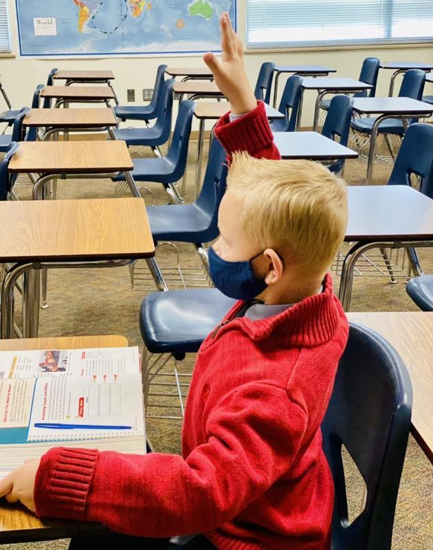 Student Kindergartener Legacy Prep Student best charter school in Davis County