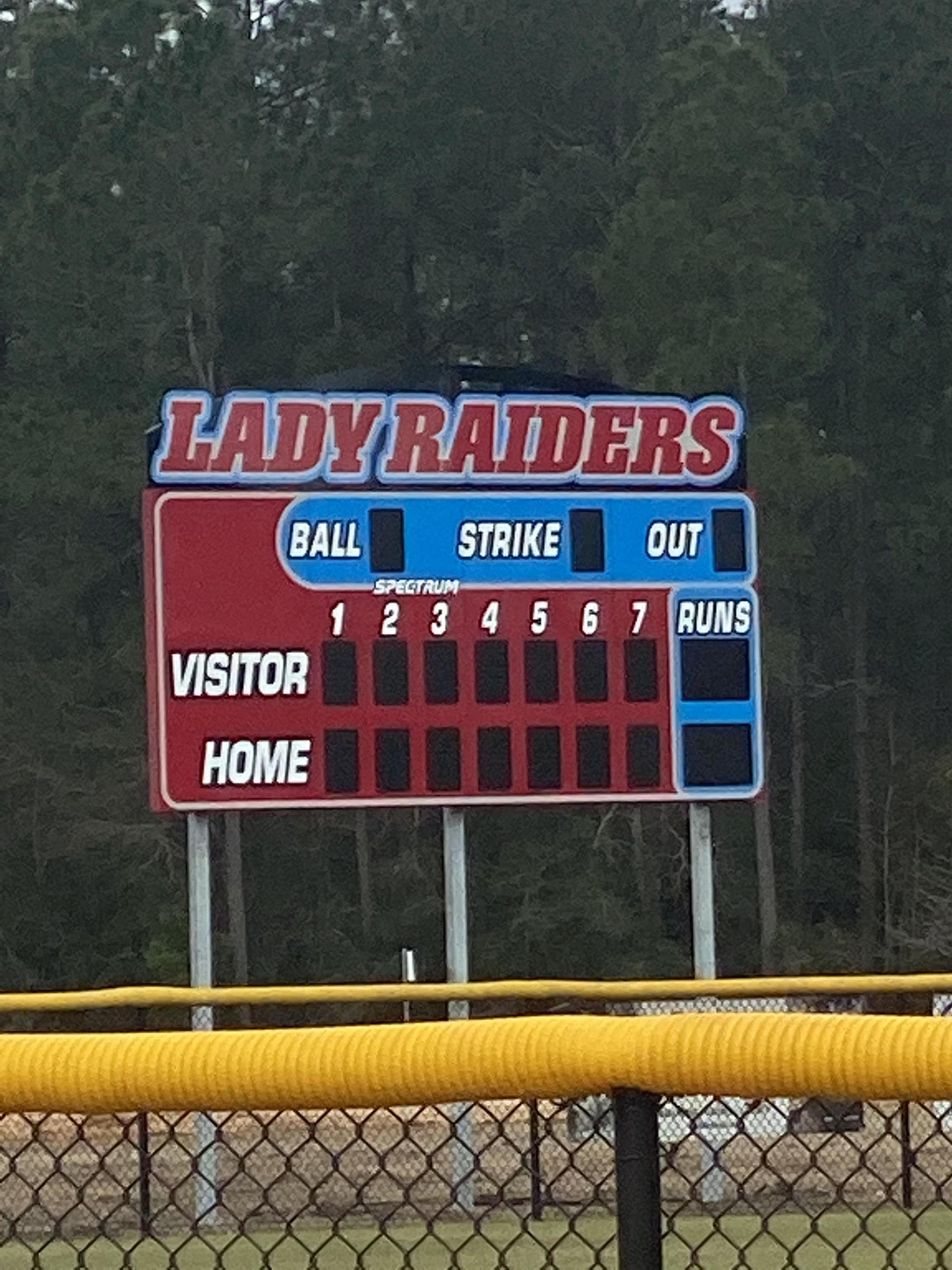 New Softball Scoreboard