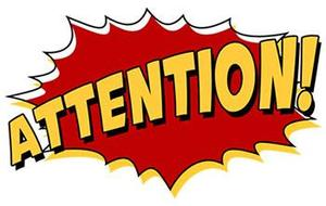 Attention in bold red letters