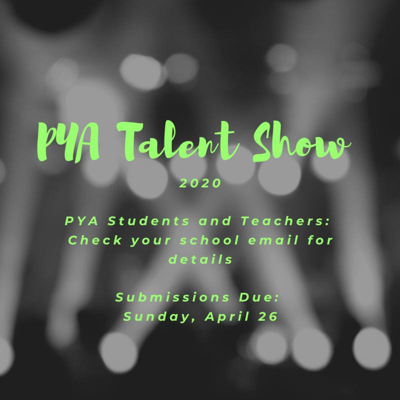PYA Talent Show 2020 Featured Photo