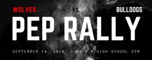 Pep Rally Poster