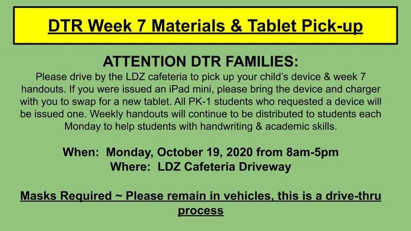 Week 7 Materials & Tablet Pick-up Featured Photo