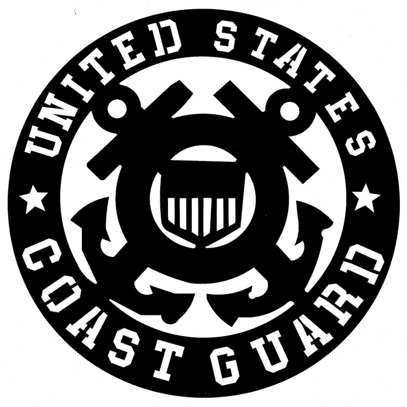 "U.S. Coast Guard Emblem Magnet (12"", 2 Pack)"