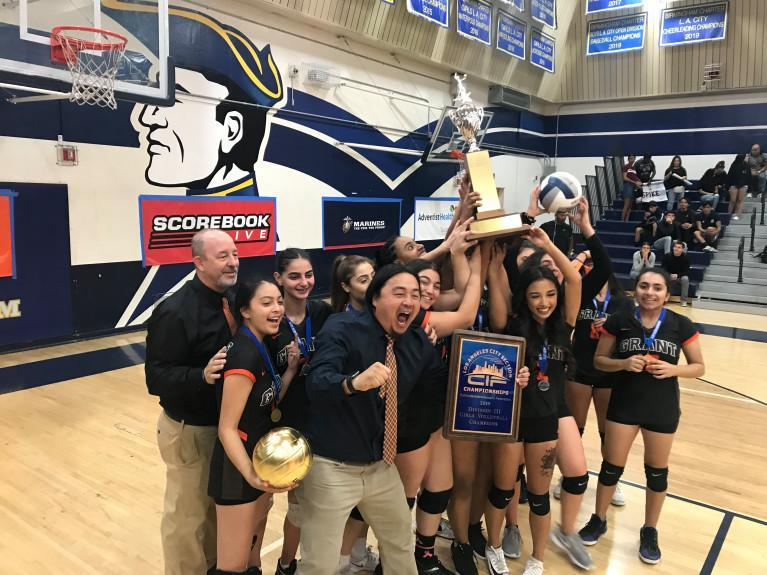 Coaches Yang and Manocchio lead their volleyball team to a city title! Featured Photo