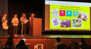 :  Human dignity was the focus at Roosevelt Intermediate School, as the school's chapter of Girls Learn International (GLI) hosted an assembly on Jan. 10 celebrating the Universal Declaration of Human Rights.