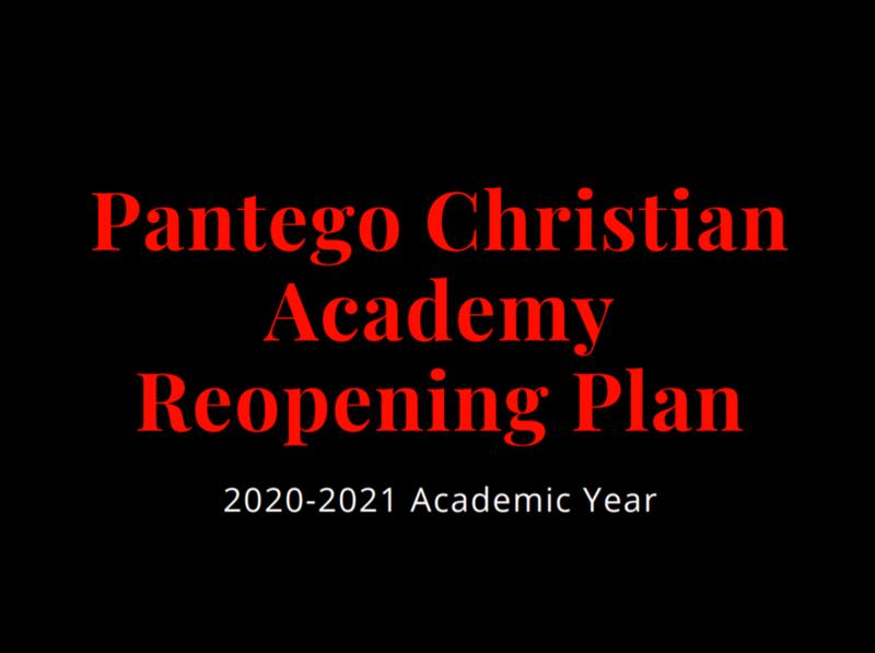 PCA Reopening Plan 2020-2021 School Year