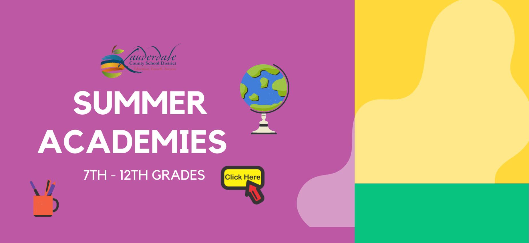 LCSD Summer Academies 7th -12th Grades