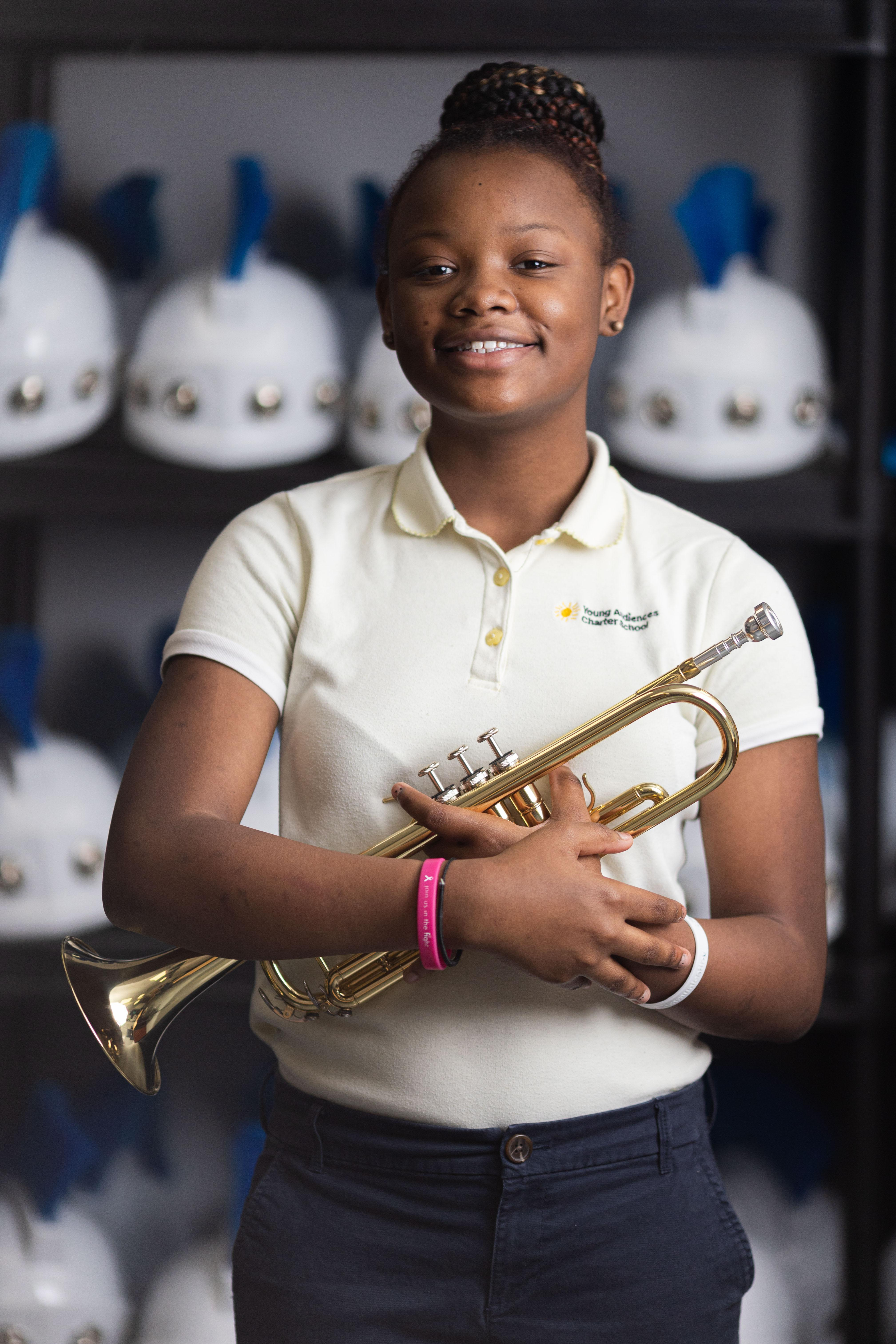 Student with Trumpet