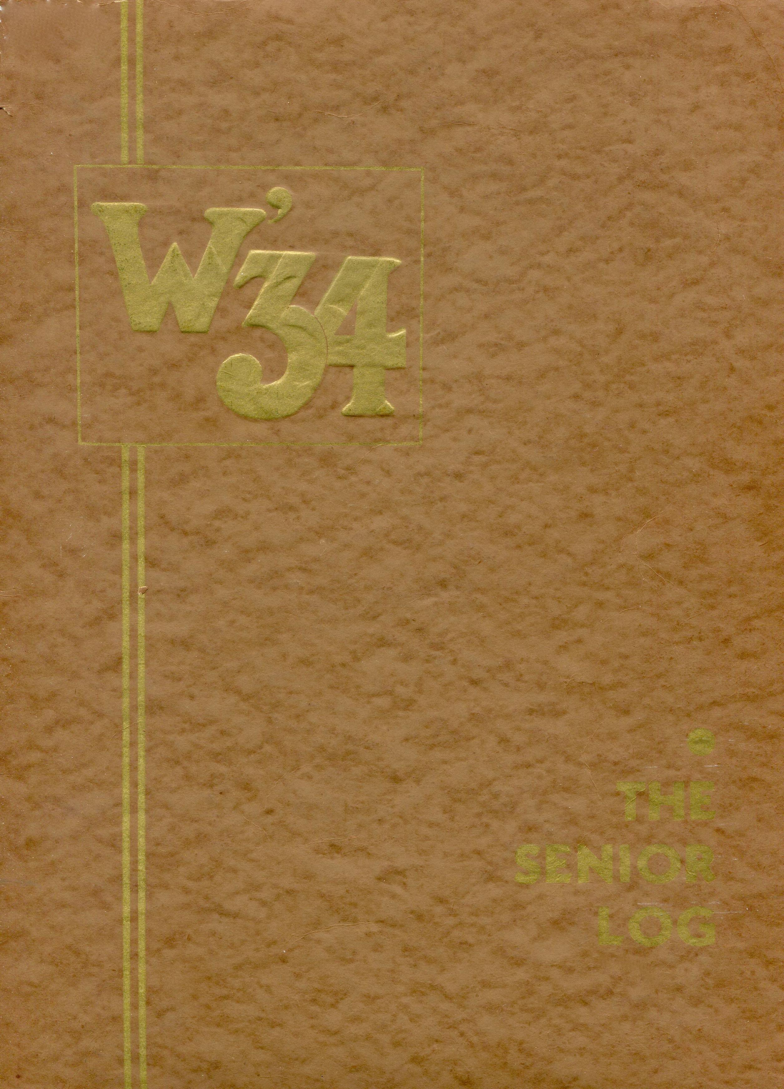 Winter 1934 yearbook