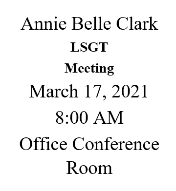 Upcoming LSGT Meeting Featured Photo