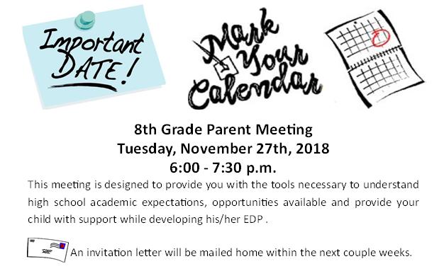 8th grade parent meeting